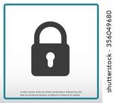 lock symbol  | Shutterstock .eps vector #356049680