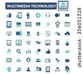 multimedia technology ... | Shutterstock .eps vector #356051528
