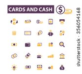 cards  cash  money  payment ... | Shutterstock .eps vector #356054168
