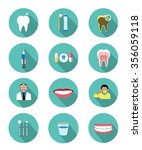 modern flat dental icons set... | Shutterstock .eps vector #356059118