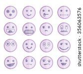 emoticon icons | Shutterstock .eps vector #356063576