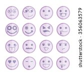 emoticon icons | Shutterstock .eps vector #356063579