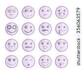 emoticon icons | Shutterstock .eps vector #356063579