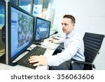 security guard officer watching ... | Shutterstock . vector #356063606