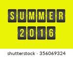 vector summer 2016 scoreboard ... | Shutterstock .eps vector #356069324