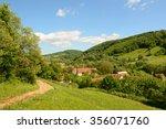 summer landcape with... | Shutterstock . vector #356071760