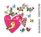lovely decorative card with... | Shutterstock .eps vector #356079140