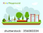 playground background | Shutterstock . vector #356083334