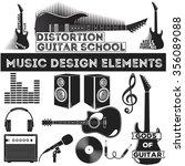 set of design music elements.... | Shutterstock .eps vector #356089088