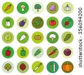 vegetables symbols set.... | Shutterstock .eps vector #356094200