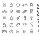 education line icons set.... | Shutterstock .eps vector #356094380