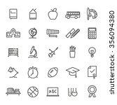 education line icons set.... | Shutterstock .eps vector #356094380