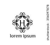 h letter vector logo template ... | Shutterstock .eps vector #356097878