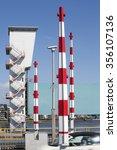 barriers on the algera bridge... | Shutterstock . vector #356107136
