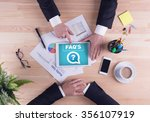 business team concept   faq's | Shutterstock . vector #356107919