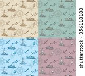 vintage sea texture in four... | Shutterstock .eps vector #356118188