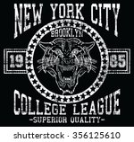 new york city  tiger  sport ... | Shutterstock .eps vector #356125610