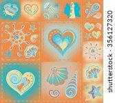 navy vector seamless pattern....   Shutterstock .eps vector #356127320