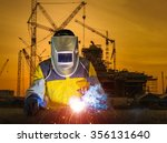 industrial worker at the...   Shutterstock . vector #356131640