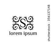 s letter vector logo template ... | Shutterstock .eps vector #356137148