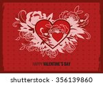 beautiful vintage card with... | Shutterstock .eps vector #356139860