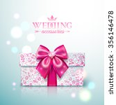 present white gift box with... | Shutterstock .eps vector #356146478