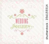 lovely wedding design | Shutterstock .eps vector #356155514