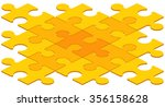 3d digitally generated puzzle... | Shutterstock .eps vector #356158628