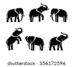 elephant set. vector | Shutterstock .eps vector #356172596