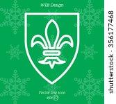 web line icon. shield. | Shutterstock .eps vector #356177468