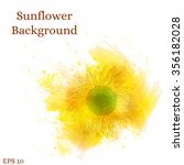 sunflower background.... | Shutterstock .eps vector #356182028