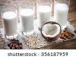 different types of non dairy... | Shutterstock . vector #356187959