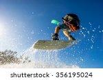 professional kiter makes the...   Shutterstock . vector #356195024