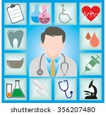doctor with medical vector icons | Shutterstock .eps vector #356207480