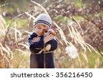 cute little caucasian child ... | Shutterstock . vector #356216450