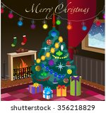 vector greeting card with... | Shutterstock .eps vector #356218829