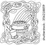 Celtic Coloring Page With Pot...