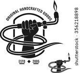 veltor logo handcrafted goods... | Shutterstock .eps vector #356218898