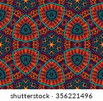seamless colorful geometric... | Shutterstock . vector #356221496