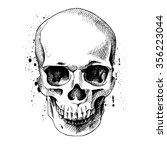 the image of the skull. vector... | Shutterstock .eps vector #356223044