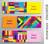 set of vector banners with... | Shutterstock .eps vector #356228528