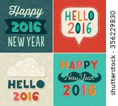 set of four retro style... | Shutterstock .eps vector #356229830