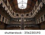 Stock photo  kilmainham gaol with prison cells in dublin ireland 356230193