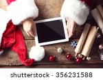 christmas concept. santa with... | Shutterstock . vector #356231588