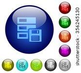 set of color backup glass web...