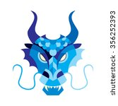 Blue Dragon Face Mask On A...