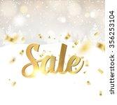 gold template over gray...   Shutterstock .eps vector #356253104