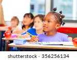 happy children in a multi... | Shutterstock . vector #356256134
