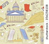 saint petersburg seamless...   Shutterstock .eps vector #356258108