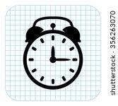 alarm clock   black  vector icon   Shutterstock .eps vector #356263070